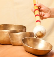 Rain & Relaxing Sounds of Metal Singing Bowls MP3